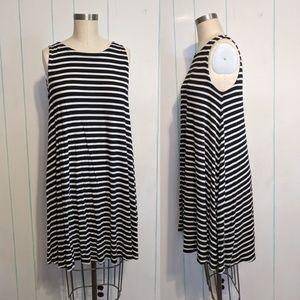 Ann Taylor Loft A-Line Striped Dress size S